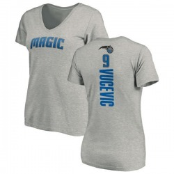 Women's Nikola Vucevic Orlando Magic Ash Backer T-Shirt