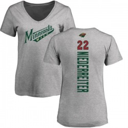 Women's Nino Niederreiter Minnesota Wild Backer T-Shirt - Ash