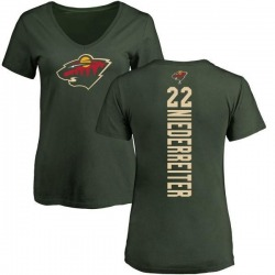 Women's Nino Niederreiter Minnesota Wild Backer T-Shirt - Green