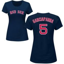 Women's Nomar Garciaparra Boston Red Sox Roster Name & Number T-Shirt - Navy