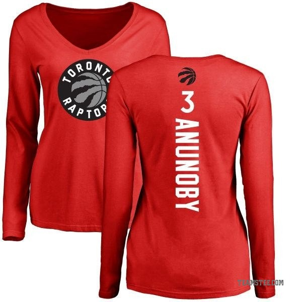 new concept 12051 6a540 Women's OG Anunoby Toronto Raptors Red Backer Long Sleeve T-Shirt - Teams  Tee