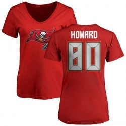 Women's O.J. Howard Tampa Bay Buccaneers Name & Number Logo Slim Fit T-Shirt - Red