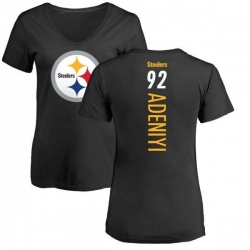 Women's Olasunkanmi Adeniyi Pittsburgh Steelers Backer Slim Fit T-Shirt - Black