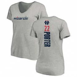 Women's Otto Porter Washington Wizards Ash Backer T-Shirt