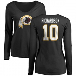 Women's Paul Richardson Washington Redskins Name & Number Logo Slim Fit Long Sleeve T-Shirt - Black