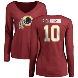 Women's Paul Richardson Washington Redskins Name & Number Logo Slim Fit Long Sleeve T-Shirt - Maroon