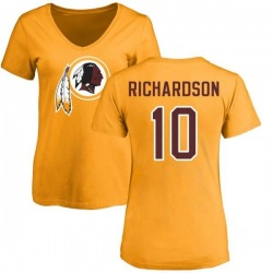 Women's Paul Richardson Washington Redskins Name & Number Logo Slim Fit T-Shirt - Gold