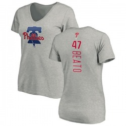 Women's Pedro Beato Philadelphia Phillies Backer Slim Fit T-Shirt - Ash