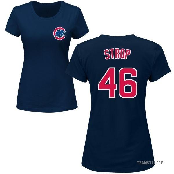 buy online a4de9 5b755 Women's Pedro Strop Chicago Cubs Roster Name & Number T-Shirt - Navy -  Teams Tee