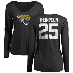 Women's Peyton Thompson Jacksonville Jaguars Name & Number Logo Slim Fit Long Sleeve T-Shirt - Black