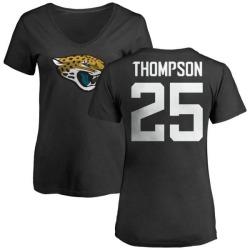 Women's Peyton Thompson Jacksonville Jaguars Name & Number Logo Slim Fit T-Shirt - Black
