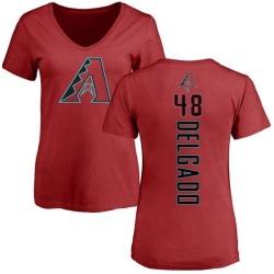 Women's Randall Delgado Arizona Diamondbacks Backer Slim Fit T-Shirt - Red