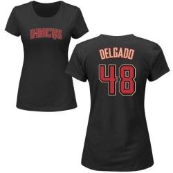 Women's Randall Delgado Arizona Diamondbacks Roster Name & Number T-Shirt - Black