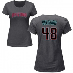 Women's Randall Delgado Arizona Diamondbacks Roster Name & Number T-Shirt - Charcoal