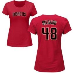 Women's Randall Delgado Arizona Diamondbacks Roster Name & Number T-Shirt - Crimson
