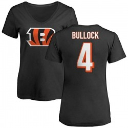 Women's Randy Bullock Cincinnati Bengals Name & Number Logo Slim Fit T-Shirt - Black