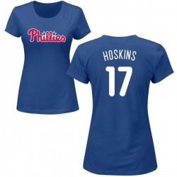 Women's Rhys Hoskins Philadelphia Phillies Roster Name & Number T-Shirt - Royal