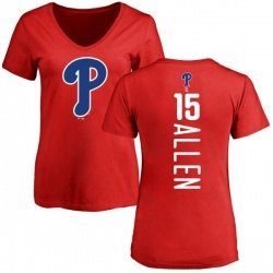 Women's Richie Allen Philadelphia Phillies Backer Slim Fit T-Shirt - Red