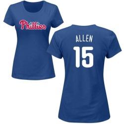 Women's Richie Allen Philadelphia Phillies Roster Name & Number T-Shirt - Royal