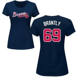 Women's Rob Brantly Atlanta Braves Roster Name & Number T-Shirt - Navy