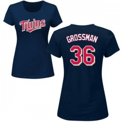 Women's Robbie Grossman Minnesota Twins Roster Name & Number T-Shirt - Navy