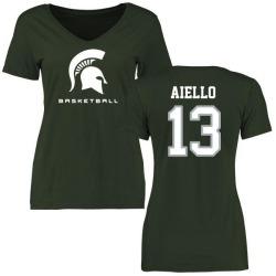 Women's Robert Aiello Michigan State Spartans Basketball Slim Fit T-Shirt - Green