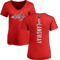 Women's Rod Langway Washington Capitals Backer T-Shirt - Red
