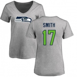 Women's Rodney Smith Seattle Seahawks Name & Number Logo Slim Fit T-Shirt - Ash