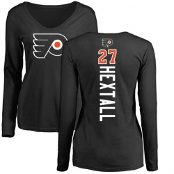 Women's Ron Hextall Philadelphia Flyers Backer Long Sleeve T-Shirt - Black
