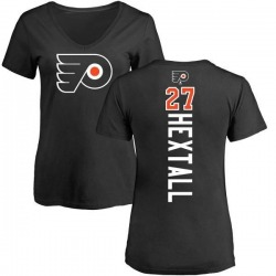 Women's Ron Hextall Philadelphia Flyers Backer T-Shirt - Black