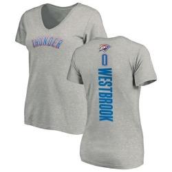 Women's Russell Westbrook Oklahoma City Thunder Ash Backer T-Shirt
