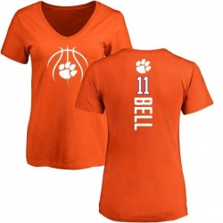 Women's Shadell Bell Clemson Tigers Basketball Backer T-Shirt - Orange