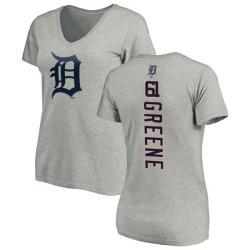 Women's Shane Greene Detroit Tigers Backer Slim Fit T-Shirt - Ash