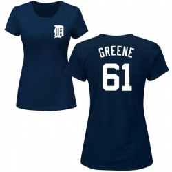 Women's Shane Greene Detroit Tigers Roster Name & Number T-Shirt - Navy