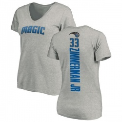 Women's Stephen Zimmerman Jr. Orlando Magic Ash Backer T-Shirt