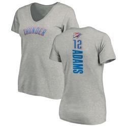 Women's Steven Adams Oklahoma City Thunder Ash Backer T-Shirt
