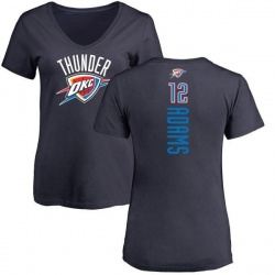 Women's Steven Adams Oklahoma City Thunder Navy Backer T-Shirt