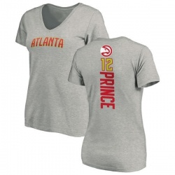 Women's Taurean Prince Atlanta Hawks Ash Backer T-Shirt