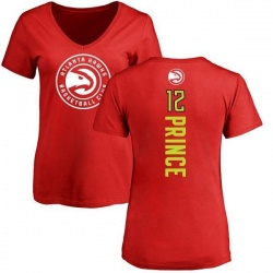 Women's Taurean Prince Atlanta Hawks Red Backer T-Shirt