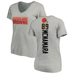 Women's Taylor McNamara Cleveland Browns Backer V-Neck T-Shirt - Ash