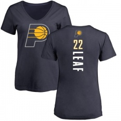 Women's TJ Leaf Indiana Pacers Navy Backer T-Shirt