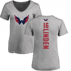 Women's Trevor Linden Washington Capitals Backer T-Shirt - Ash