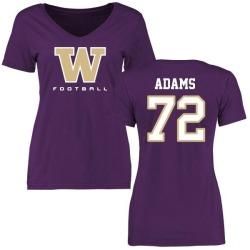 Women's Trey Adams Washington Huskies Football Slim Fit T-Shirt - Purple