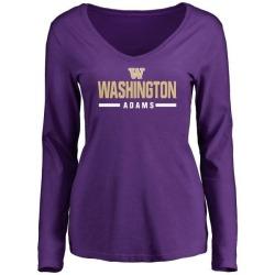Women's Trey Adams Washington Huskies Sport Wordmark Long Sleeve T-Shirt - Purple