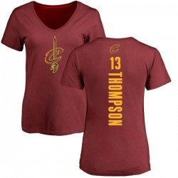 Women's Tristan Thompson Cleveland Cavaliers Maroon Backer T-Shirt