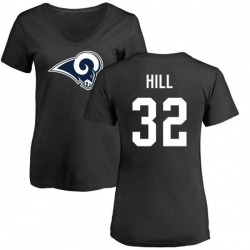 Women's Troy Hill Los Angeles Rams Name & Number Logo Slim Fit T-Shirt - Black