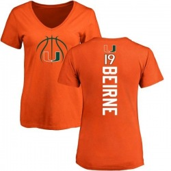 Women's Tucker Beirne Miami Hurricanes Basketball Backer T-Shirt - Orange