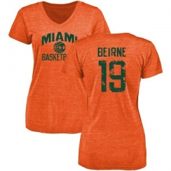 Women's Tucker Beirne Miami Hurricanes Basketball Tri-Blend T-Shirt - Orange