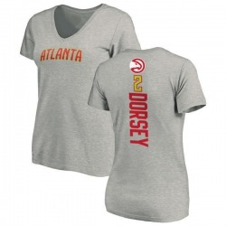 Women's Tyler Dorsey Atlanta Hawks Ash Backer T-Shirt