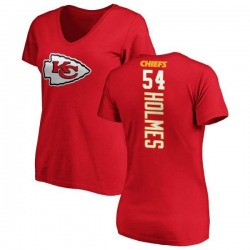 Women's Tyrone Holmes Kansas City Chiefs Backer Slim Fit T-Shirt - Red